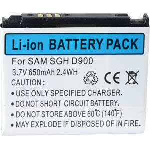 650 mAh, Li-Ion for SAMSUNG SGH-D900 FREI