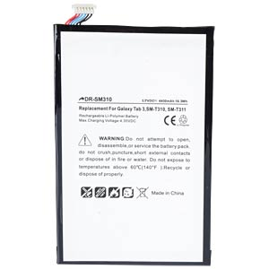 4400 mAh, Li-Pol for SAMSUNG Galaxy Tab3 FREI