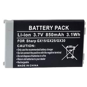 850 mAh, Li-Ion für SHARP GX15 FREI