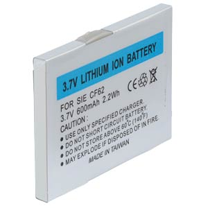 600 mAh, Li-Ion for SIEMENS AX72 FREI