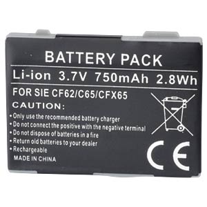 750 mAh, Li-Ion for SIEMENS AX72 FREI