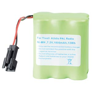 1800 mAh, NiMH for TIVOLI Audio PAL Radio FREI