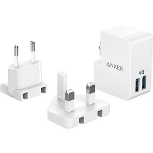 USB-Ladegerät PowerPort 2, 5 V, 4800 mA, 2 USB-Ports ANKER AK-A2022321