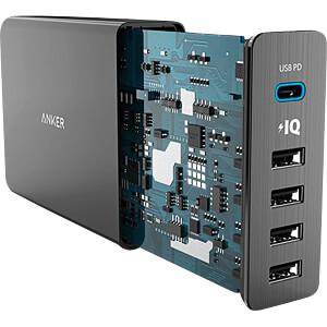 USB (PD)-Ladegerät PowerPort+, 5 V, 2400 mA, 5 USB-Ports ANKER AK-A2053G11