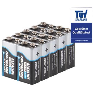 10-pack of Ansmann alkaline 9 V batteries ANSMANN 5015711-888