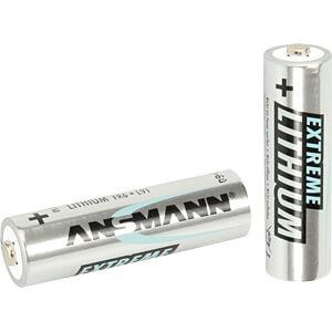 Lithium Batterie, 3000 mAh, AA (Mignon), 4er-Pack ANSMANN 1512-0002