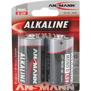 Red, alkalinebatterij, D (mono), 2-delige set ANSMANN 1514-0000