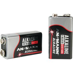 Red, Alkaline Batterie, 9-V-Block, 1er-Pack ANSMANN 1515-0000