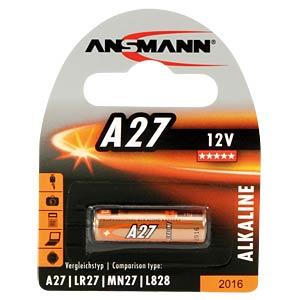 Alkaline Batterie, A27, 1er-Pack ANSMANN 1516-0001
