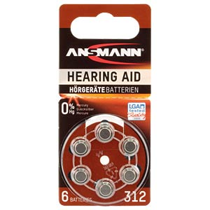 ANSMANN gehoorapparaatbatterij Hearing Aid 312 ANSMANN 5013233