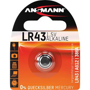 Alkaline Knopfzelle, 95 mAh, LR43 ANSMANN 5015293