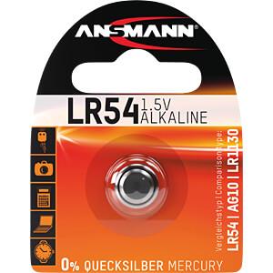 Alkalineknoopcelbatterij, 65 mAh, LR54 ANSMANN 5015313