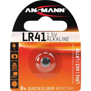 Alkaline Knopfzelle, 35 mAh, LR41 ANSMANN 5015332