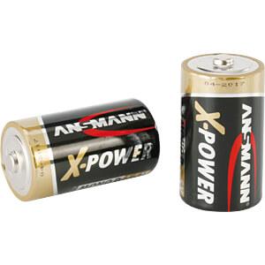 XPOWER, Alkaline Batterie, D (Mono), 2er-Pack ANSMANN 5015633