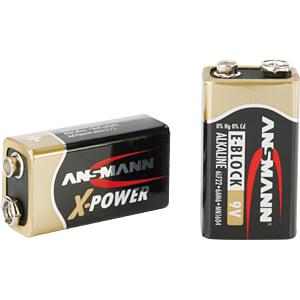 XPOWER, Alkaline Batterie, 9-V-Block, 1er-Pack ANSMANN 5015643