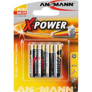 XPOWER, Alkalinebatterij, AAA (micro), set van 4 stuks ANSMANN 5015653