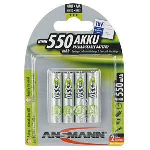 NiMh Akku, AAA (Micro), 550 mAh, 4er-Pack ANSMANN 5030772