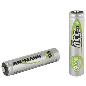 ANSMANN NiMH batterij micro AAA 550 mAh maxE 4 stuks in blisterv ANSMANN 5030772