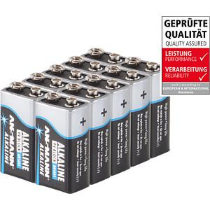 Alkaline Batterie, 9-V-Block, 10er-Pack ANSMANN 5015711-888