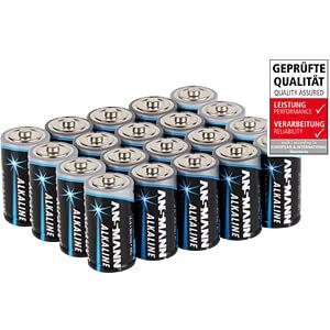 Alkaline Batterie, C (Baby), 20er-Pack ANSMANN 5015691-888