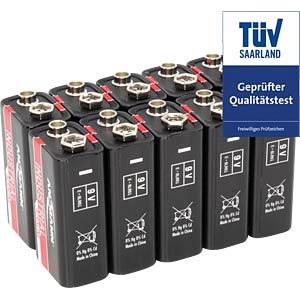 Pack of 10 industrial batteries, alkaline, 9V ANSMANN 1505-0001
