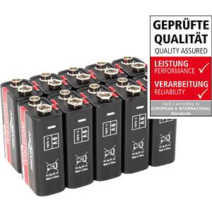 Industriebatterijen in set van 10, Alkaline 9 V ANSMANN 1505-0001