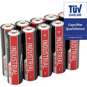 Pack of 10 industrial batteries, AA alkaline ANSMANN 1502-0006