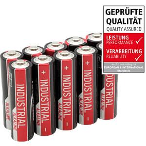 Industrial, Alkaline Batterie, AA (Mignon), 10er-Pack ANSMANN 1502-0006