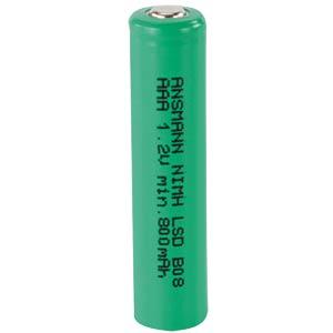 Industriezelle, NiMh, AAA (Micro), 1,2 V, 800 mAh, Flat Top ANSMANN 2311-3002
