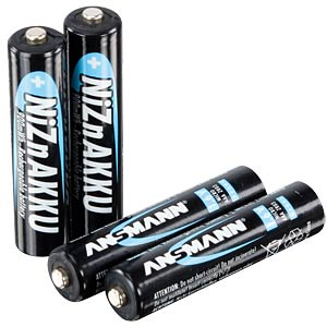 ANSMANN nickel-zinc batteries, 4x AAA ANSMANN 1321-0001