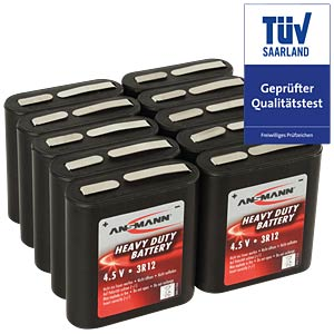 10x ANSMANN zinc-carbon battery, 4.5V, 3R12A ANSMANN 5013091-888