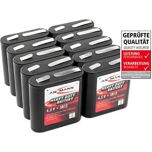 10x ANSMANN zink-koolstof batterij, 4,5V, 3R12A ANSMANN 5013091-888