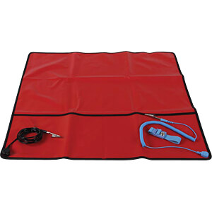 ANTI-STATIC FIELD SERVICE KIT - RED - 60 x 60 cm VELLEMAN AS9