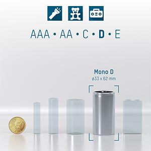 Alkaline Batterie, D (Mono), 20er-Pack ANSMANN 5015701-888
