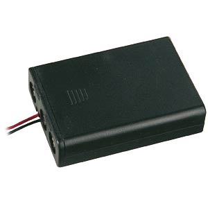 Battery holder for 3x Micro AAA, closed FREI