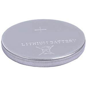 Lithium button cell battery, 3 Volt, 38 mAh, 12.5x2.5 mm FREI