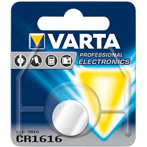 Varta button cell battery, 3 V, 55 mAh, 16x1.6 mm VARTA 6616101401