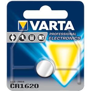 Varta button cell battery, 3 V, 70 mAh, 16x2.0 mm VARTA 6620101401