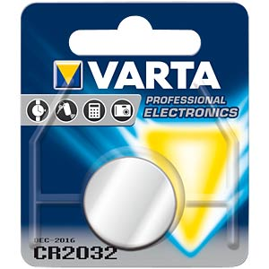 Varta button cell battery, 3 V, 230 mAh, 20x3.2 mm VARTA 6032101401