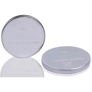 Lithium button cell battery, 3 Volt, 55 mAh, 16.0x1.6 mm FREI