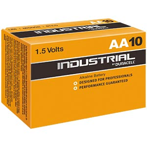 10-pack Duracell INDUSTRIAL,1.5 V, LR6, AA DURACELL MN1500/LR6