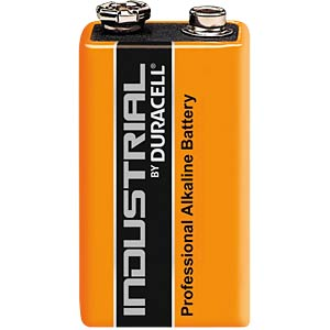 1-pack Duracell INDUSTRIAL, 9 V, 6LR61, block DURACELL MN1604/6LF22