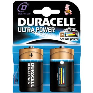Duracell Ultra Power, 2x Mono mit Power Check DURACELL MX1300 D (LR20)
