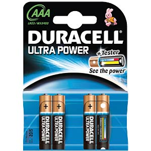 Ultra Power, Alkaline Batterie, AAA (Micro), 4er-Pack DURACELL