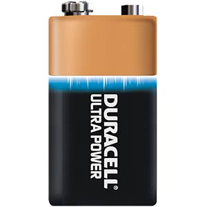 Duracell Ultra Power, 9-volt block, including tester DURACELL MX1604