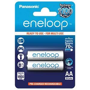 Panasonic eneloop, 2xAA, 1900mAh PANASONIC BK-3MCCE/2BE
