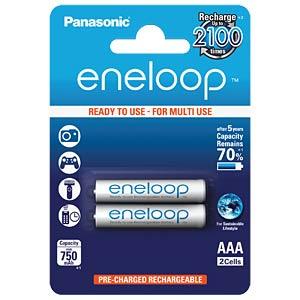 Panasonic eneloop, 2xAAA, 750mAh PANASONIC BK-4MCCE/2BE