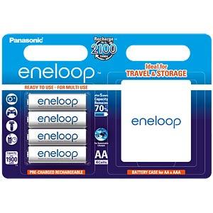 Panasonic eneloop, 4xAA, 1900mAh inkl. Akkubox PANASONIC BK-3MCCEC4BE