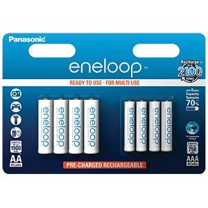 Panasonic eneloop 4xAA + 4xAAA PANASONIC BK-KJMCCE44E
