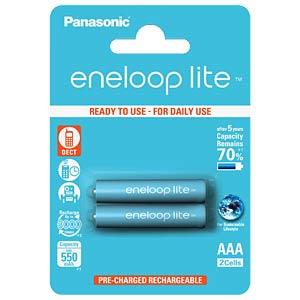 eneloop Lite, 2xAAA, 550 mAh PANASONIC BK-4LCCE/2BE